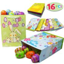 Joyin Toy 16 Easter Day Party Gift Bags for Easter Party Favors (8 Large and 8 Medium Sizes)