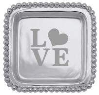 "Mariposa ""Love"" Square Tray"