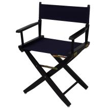 """American Trails Extra-Wide Premium 18"""" Director's Chair Black Frame with Navy Canvas"""