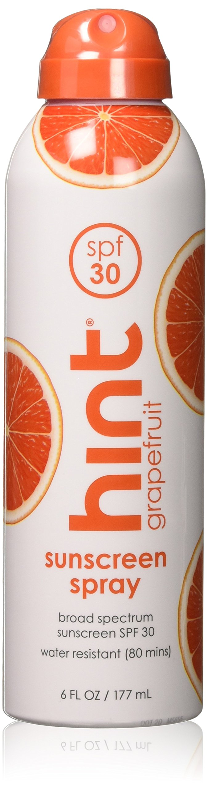 Hint Sunscreen SPF 30 Oxybenzone/Paraben Free, Grapefruit, 6 Count