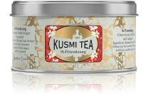Kusmi Tea - St. Petersburg - Russian Black Tea Blend with Earl Grey, Bergamot, Caramel & Red Fruits - 4.4oz of All Natural, Premium Loose Leaf Black Tea Blend in Eco-Friendly Metal Tin (50 Servings)