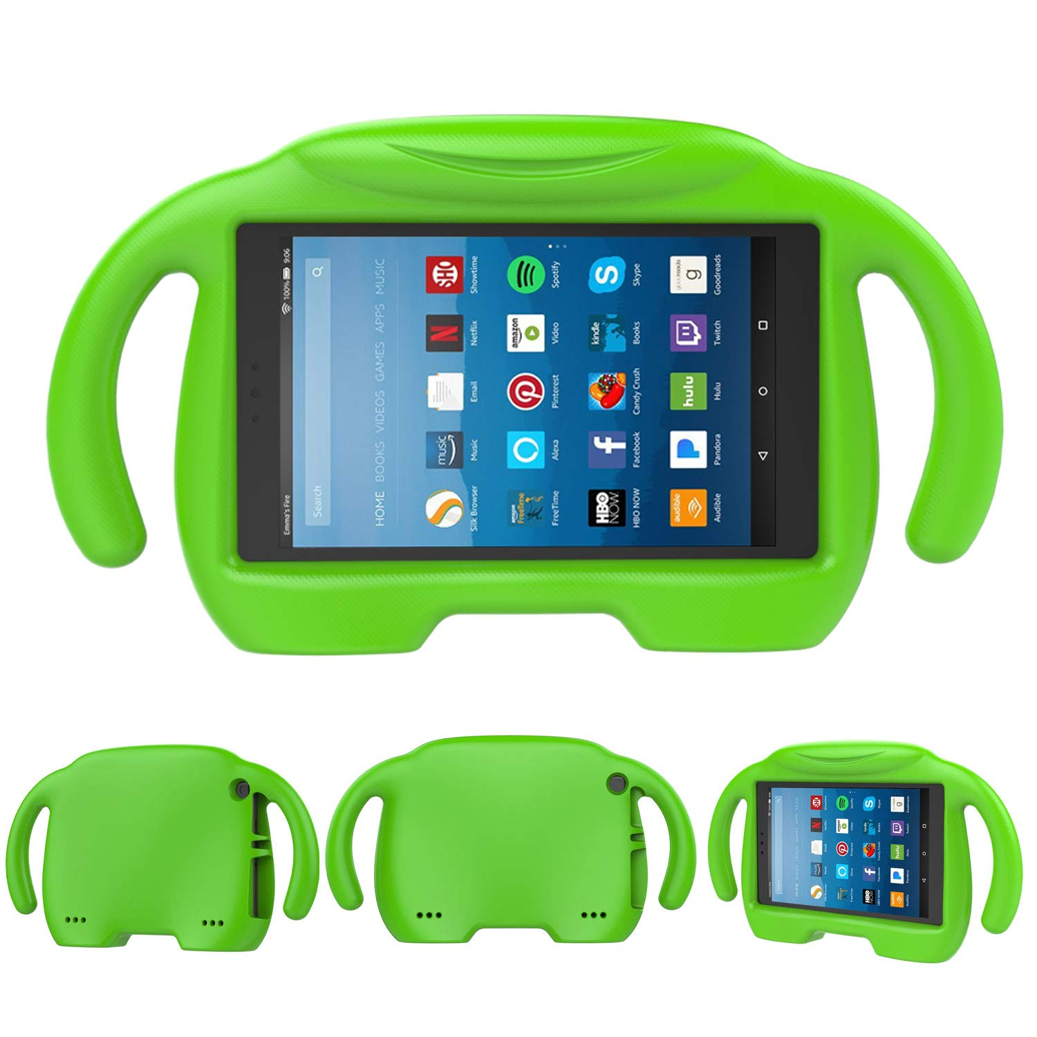 Fire HD 8 Kids Case- TIRIN Light Weight Shock Proof Handle Kid –Proof Cover Kids Case for Amazon Fire HD 8 (7th and 8th Generation Tablet, 2017 and 2018 Release), Green