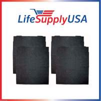 LifeSupplyUSA 4 Replacement Air Purifier Carbon PreFilter Filters Compatible with Whirlpool AP300 AP350 AP450 8171434K
