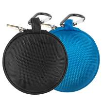Earbud Case Mini Earphone Case EVA Hard Protective Carrying Case Travel Portable Storage Bag for Earphones Earbuds and Mini Items (Black+Blue1)