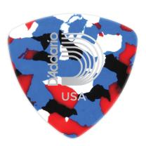 D'Addario Multi-Color Celluloid Guitar Picks, 100 pack, Extra Heavy, Wide Shape