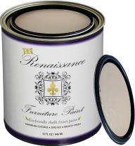 Retique It Chalk Finish Paint by Renaissance - Non Toxic, Eco-Friendly Chalk Furniture & Cabinet Paint - 32 oz (Quart), Alabaster