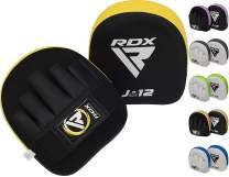 RDX Kids Boxing Pads Focus Mitts | ConvEX Skin Leather Curved Junior Hook and Jab Target Hand Pads | Great for Youth MMA, Martial Arts, Muay Thai, Kickboxing & Karate Training | Coaching Strike Shield