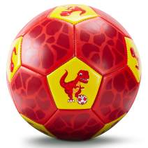 CubicFun Soccer Ball Size 3 for Kids with Hand Pump Mesh Bag, Dinosaur Ball Toys for Kids 3-5, Sports Outdoor Toys for Kids Ages 4-8, Boy Kids Toys for 3 4 5 Year Old Boys Girls Toddler Toys