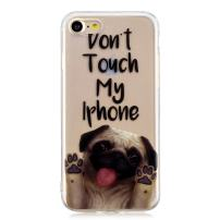Huskylove Case for iPhone 7/8 Clear Lovely Dog Design Pug Pattern IMD Soft Flexible TPU Ultra-Thin Shockproof Transparent Girls Women 2019 New Cover 4.7 inch(Pug, ip7/8)