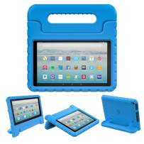 Dadanism Case Fits All-New Amazon Fire 7 Tablet (9th Generation, 2019 Release), Lightweight Shockproof EVA Kids Friendly Convertible Stand Handle Protective Cover Fits Fire 7 2019 Tablet – Blue