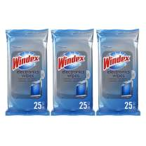 Windex Electronics Screen Wipes for Computers, Phones, Televisions and More, 25 count - Pack of 3 (75 Total Wipes)