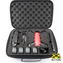 Drone Pit Stop Carrying Case for DJI Spark - Slots for Extra Battery, Charger and Transmitter. Splash-Proof | Durable | Compact | EVA Material - Carry Your Drone with Maximum Protection (Medium)