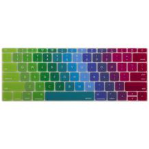 MOSISO Silicone Pattern Keyboard Cover Protective Skin Compatible with MacBook Pro 13 inch 2017 & 2016 Release A1708 Without Touch Bar, MacBook 12 inch A1534, Blue and Pink