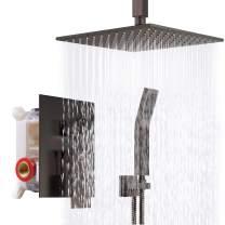 SR SUN RISE 12 Inch Venetian Bronze Shower System Brass Bathroom Luxury Rain Mixer Shower Combo Set Ceiling Mounted Rainfall Shower Head System