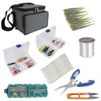 Dr.Fish Fishing Tackle Bag with Boxes Lure Bait Storage Case Waterproof Storage Bag