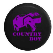 Purple - Country Boy Offroad Spare Tire Cover (Fits: Jeep Wrangler Accessories or SUV Camper RV) Black 33 in Spare Tire Cover (Fits: Jeep Wrangler Accessories or SUV Camper RV) Black 33 in