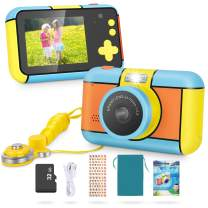 Kids Camera - MagicFun 24MP Kid Digital Camera Gifts for Age 3 4 5 6 7 8 9 10 Years Old Boys Girls, 1080P 2.4'' Large LCD Blue Screen Video Camcorder, USB Rechargeable Selfie Camera with 32GB SD Card