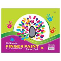 """BAZIC 16"""" X 12"""" Finger Paint Paper Pad 20 Sheets, Oil Painting Watercolor Papers Book, Gift for Kids Toddlers Classrooms School Home DIY Projects, 48-Pack"""