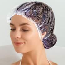 Blue Donuts Disposable Shower Caps 100 Pieces Clear Plastic Shower Hair Caps