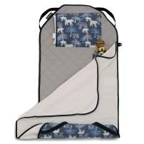 Urban Infant Tot Cot All-in-One Modern Preschool/Daycare Nap Mat with Washable Pillow and Elastic Straps - Bears