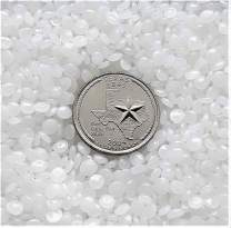 Victory Pellets Flat Cut (50 LBS) Plastic Poly Pellets for Weighted Blankets, Vests, Rock Tumbling, Reborn Dolls, Plush Toys, Draft Stoppers, ASMR Therapy & Sensory Lap Pads. Made in USA.