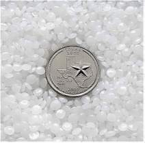 Victory Pellets Flat Cut (25 LBS) Plastic Poly Pellets for Weighted Blankets, Vests, Rock Tumbling, Reborn Dolls, Plush Toys, Draft Stoppers, ASMR Therapy & Sensory Lap Pads. Made in USA.