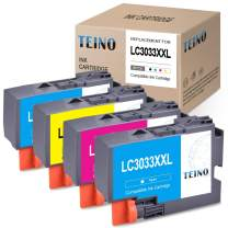TEINO Compatible Ink Cartridges Replacement for Brother LC3033 LC3033BK LC3033C LC3033M LC3033Y use with Brother MFC-J995DW MFC-J995DWXL MFC-J805DW MFC-J805DW XL (Black, Cyan, Magenta, Yellow, 4-Pack)