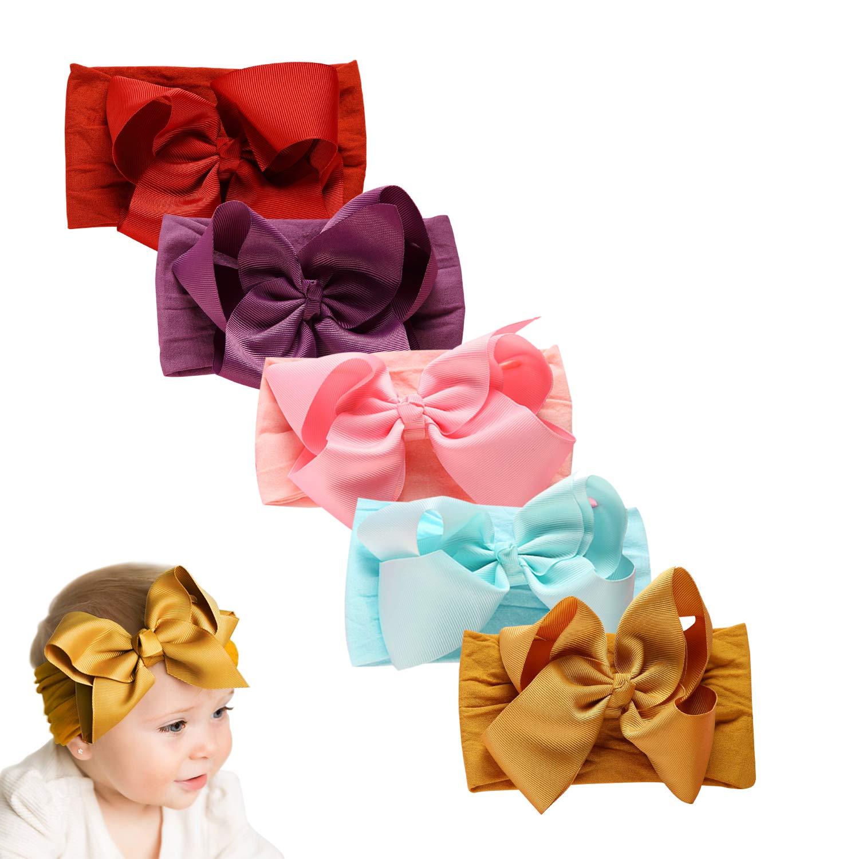 Baby Girl Nylon Headbands Newborn Infant Toddler, Baby Bows & Elastic Hairbands Child Hair Accessories