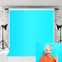 Kate 5x7ft Bright Blue Backdrops Pure Color Solid Baby Photo Background Photographer Portrait Studio Prop Customized