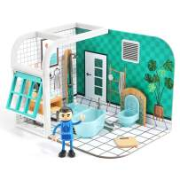TOP BRIGHT Dollhouse for Toddlers Age 2-5, Boy Toy House Playsets with Little People