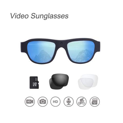 OHO Video Sunglasses, 16GB Ultra HD Outdoor Sports Action Camera with Built in 16MP Camera and Polarized UV400 Protection Safety Lens (1440x1080-1)