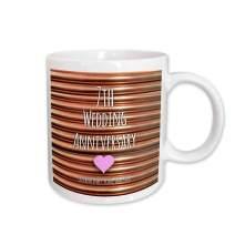 3dRose 154436_1 7Th Wedding Anniversary Gift Mug, 11 oz, Ceramic