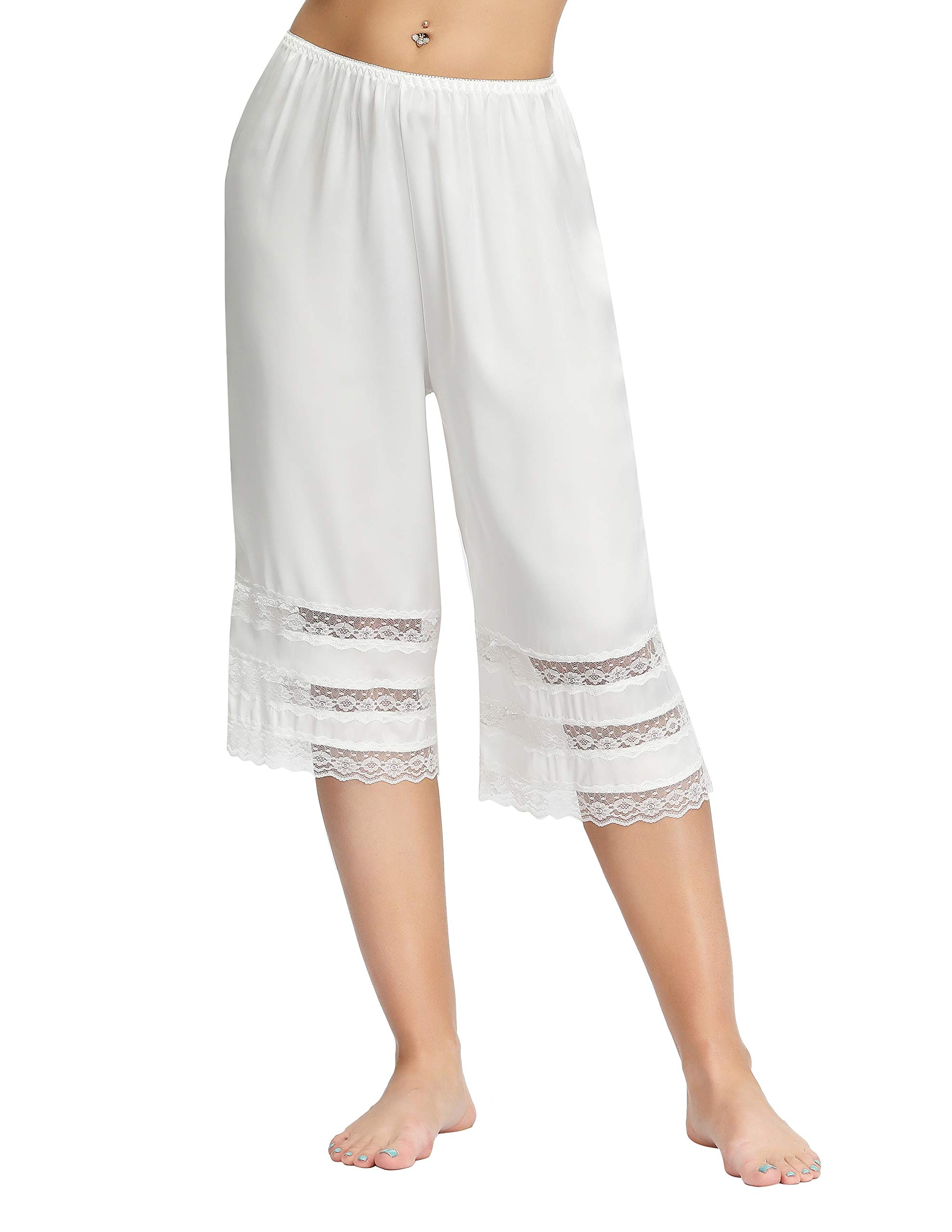 KANCY KOLE Anti-Static Half Slip Snip-it Lace Edge Pettipants Sleepwear Short Pants