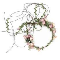 Handmade Adjustable Flower Wreath Headband Halo Floral Crown Garland Headpiece Wedding Festival Party