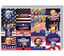 Creanoso Trump President Collectors Stickers (20-Sheet) – Amazing Presidential Stickers Collection Note Cards – Wall Art Decal Décor – Awesome Surface Stickers Set – Fun American Gift Token Giveaways