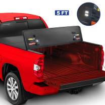 MOSTPLUS Tri-Fold Hard Truck Bed Tonneau Cover On Top Compatible for 2004-2014 Chevy Chevrolet Colorado/GMC Canyon 3 Fold Fleetside Solid 5' FT