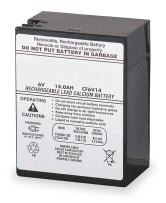Lithonia Lighting ELB 0614 Emergency Replacement Battery, 6 Volt, Black