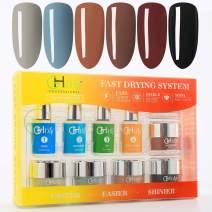 Dip Powder Nail Kit Acrylic Dip Powder Kit G651(6X0.6oz)