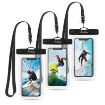 """Procase Universal Waterproof Pouch Cellphone Dry Bag Underwater Case for iPhone 11 Pro Max/Xs Max/XR/8/SE 2020, Galaxy S20 Ultra/ S20+/Note10+ S9 S8+, Pixel up to 6.9"""" - 3 Pack, Clear"""