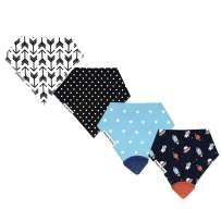 Drool Bibs w/Teethers for Natural Teething Relief, Bazzle Baby BPA-Free Silicone Teether Bandana Bibs, Boy Baby Bibs, 3 to 24 Months, Cotton & Fleece Soak Up Drool, 2 Teether Bibs & 2 Bandana Bibs