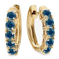 Dazzlingrock Collection 1.00 Carat (ctw) 18K Ladies Huggies Hoop Earrings 1 CT, Yellow Gold
