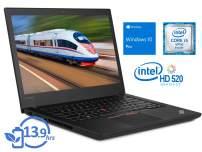 "Lenovo ThinkPad T470 Laptop, 14"" HD Display, Intel Core i5-6300U Upto 3, 16GB RAM, 256GB NVMe SSD, HDMI, Thunderbolt, Card Reader, Wi-Fi, Bluetooth, Windows 10 Pro"