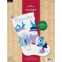 "Bucilla Hallmark Felt Applique Stocking Kit, 18"", Wintry Wonderland"