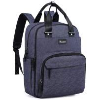 Diaper Bag Backpack, RUVALINO Multifunction Travel Back Pack Maternity Baby Changing Bags, Large Capacity, Waterproof and Stylish, Denim Blue