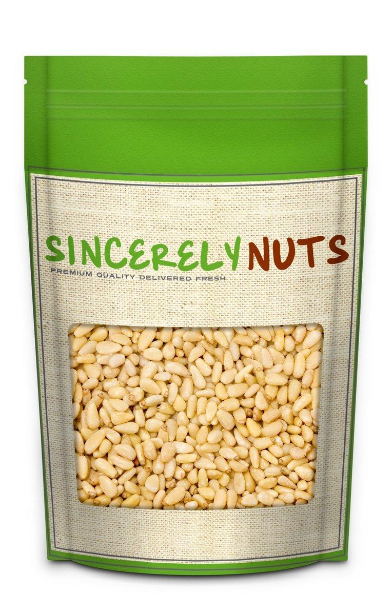 Sincerely Nuts Pine Nuts /Pignolias | 3 Lb. Bag | Delicious Gourmet Choice | Healthy Snack Food | Gluten Free, Kosher, Vegan | Fresh Shelled Pignoli | Paleo & Keto Diet Friendly | Great for Pesto