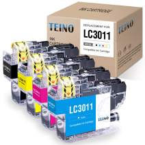 TEINO Compatible Ink Cartridges Replacement for Brother LC3011 LC-3011 use with Brother MFC-J895DW MFC-J497DW MFC-J491DW MFC-J690DW (Black, Cyan, Magenta, Yellow, 4-Pack)