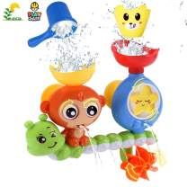 GOODLOGO Bath Toys for Toddlers Kids Babies 2 3 4 Year Old Boys Girls Bathtub Toy with 2 Toy Cups Strong Suction Cups Ideas Color Box