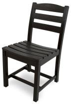POLYWOOD TD100BL La Casa Café Dining Side Chair, Black
