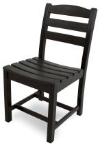 POLYWOOD TD100BL La Casa Café Dining Side Chair, Black
