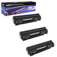 Speedy Inks Compatible Toner Cartridge Replacement for HP 35A (Black, 3-Pack)